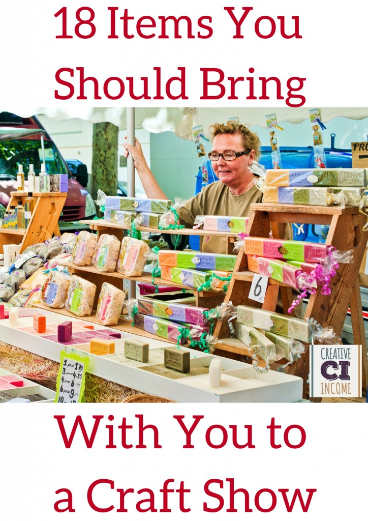 18 items you should bring with you to a craft show for What craft should i do