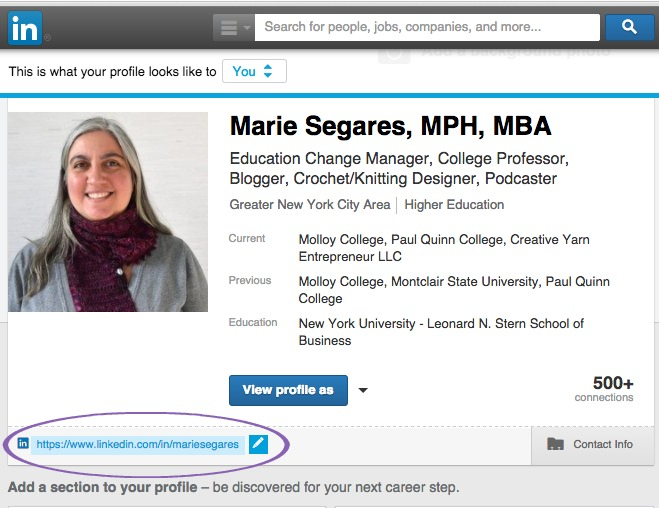 Under your profile heading, hover over the URL until a pencil appears. Click it to write a custom URL, such as your name or business name.