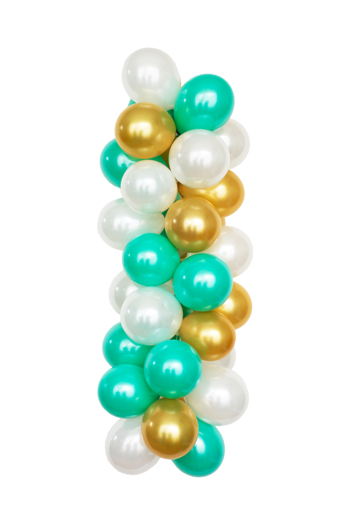 "n example of one of the newest color bpalettes from the Luft Balloon Store, called ""Tiffany."""