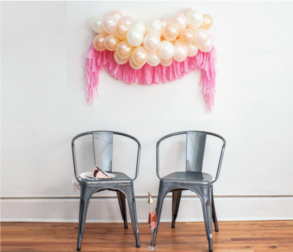 A fun example of how you can decorate with LUFT balloon bunches!